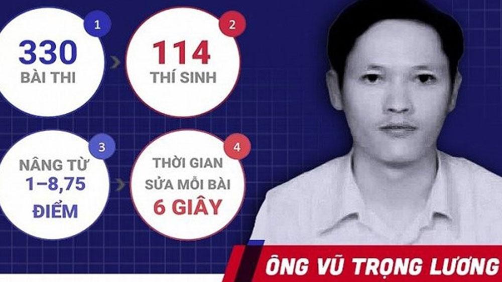 Khởi tố, bắt tạm giam ông Vũ Trọng Lương sửa điểm thi ở Hà Giang